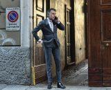 맨온더분(MAN ON THE BOON), Grey Chalk Stripe Suit !
