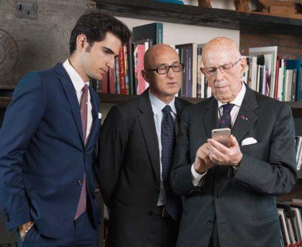 이탈리아 섬유 회사 '럭셔리 저지'의 3대를 한자리에서 만났습니다