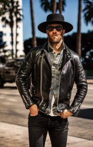 Snap of the day : LEATHER BLOUSON